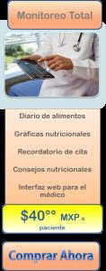 paquete monitoreo nutricional software