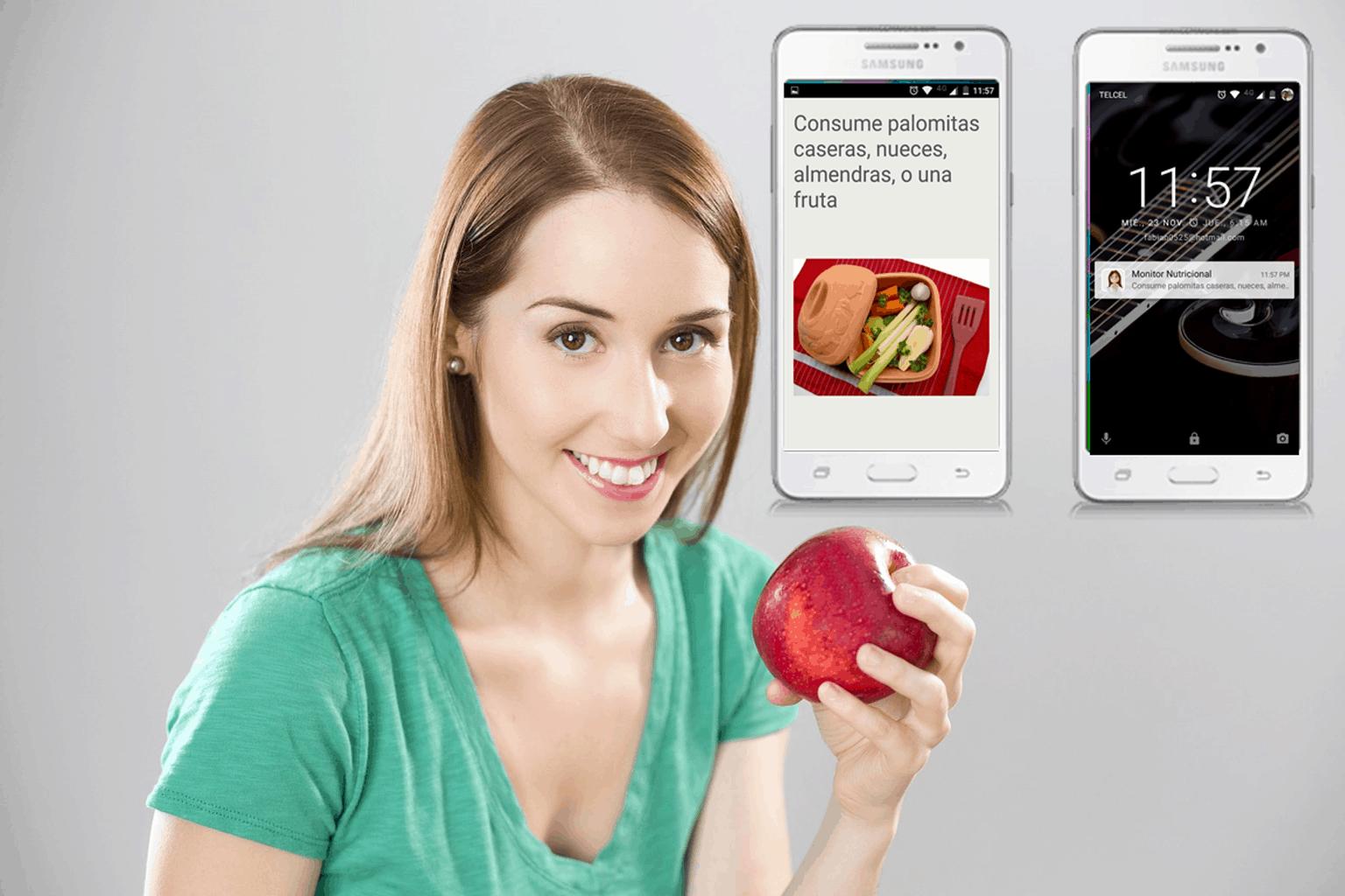 mejorar habitos aplicación de nutrición