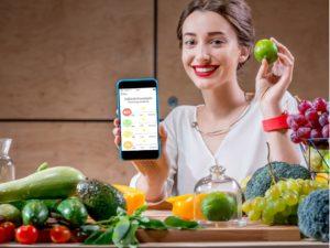 Nutrióloga de monitor nutricional
