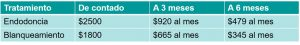 precio endodoncia en morelia